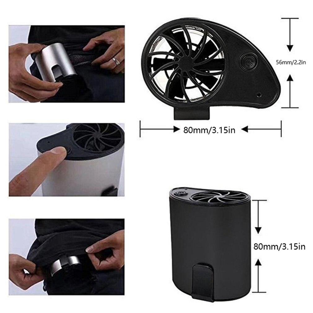 Ev ve Bahçe'ten Dekoratif Fanlar'de F100 USBPortable Mini Mobil Soğutucu Küçük Bel Fan Taşınabilir şarj edilebilir USB Kırpılabilir Kemer Spor Için Açık Havada title=