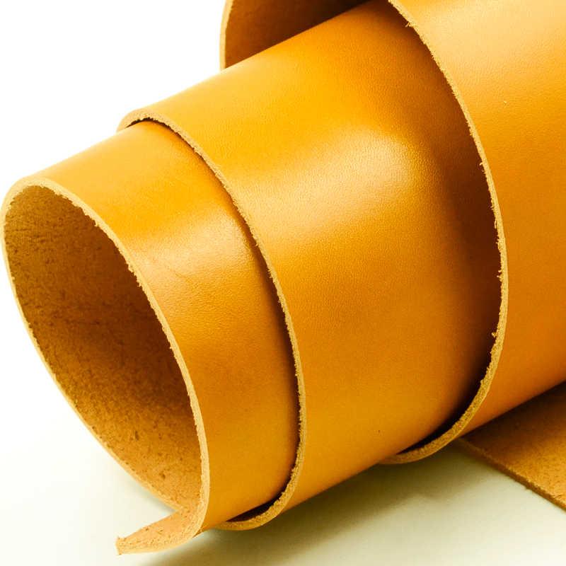 Jasny żółty lśniący połysk skóra skóra pierwsza warstwa prawdziwa skóra garbowana roślinnie, grubość 2mm do torebek, portfela, sofy.