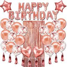 Balões de aniversário de casamento de ouro rosa feliz aniversário folha de hélio balão de chuveiro de bebê ballon aniversários decoração de festa suprimentos