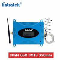 Lintratek GSM 850 CDMA UMTS wzmacniacz telefonu komórkowego LTE 850mhz celularny wzmacniacz sygnału 2g 3g 4g Repeater komórkowy Repetidor zestaw #6
