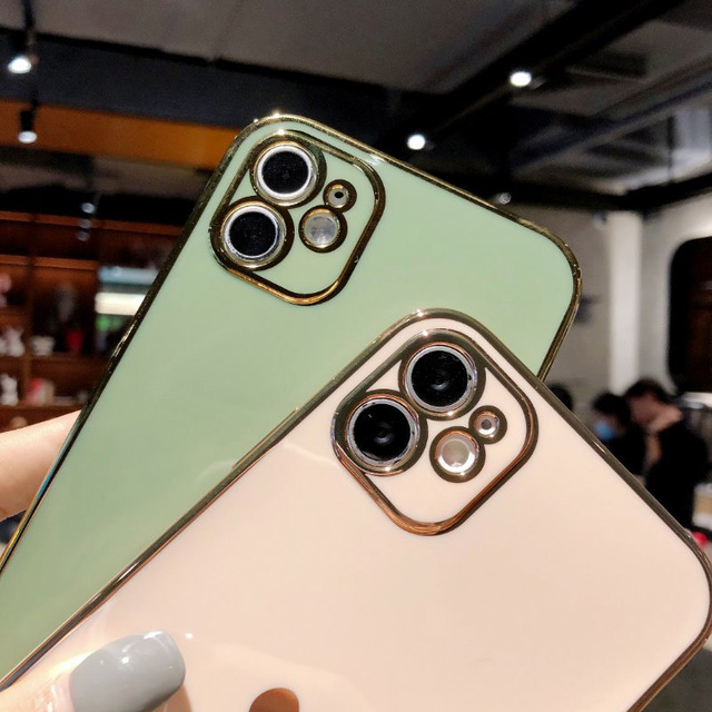 Electroplated love heart Phone Case For iPhone 12Pro 12 11 Pro Max XR XS X XS Max 7 8 Plus Shockproof Protective Back Cover capa 4