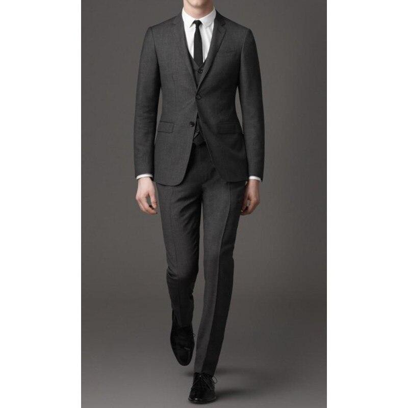 Custom Made Wedding Suits Men Notched Lapel Mens Suits 3 Piece Groomsmen Suit Slim Fit Groom Wear (Jacket+Vest+Pants) Y321