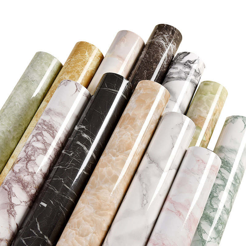 Thick Waterproof Self-adhesive Wallpaper PVC Imitation Marble Pattern Stickers Furniture Kitchen Wall Papers Home Decor 60*100cm