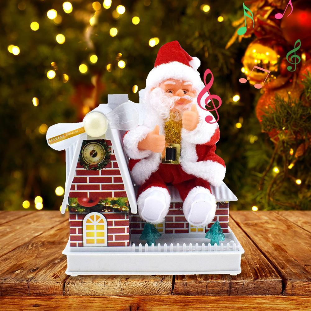 Electric Santa Claus Shape Music Dolls Plastic Funny Santa Claus Shape Toy Ornaments Christmas Innovative Decoration