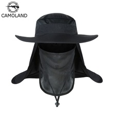 Sun-Hat Outdoor Summer Hiking-Caps Male Windproof Women with CAMOLAND Upf 50 Face-Neck-Flap