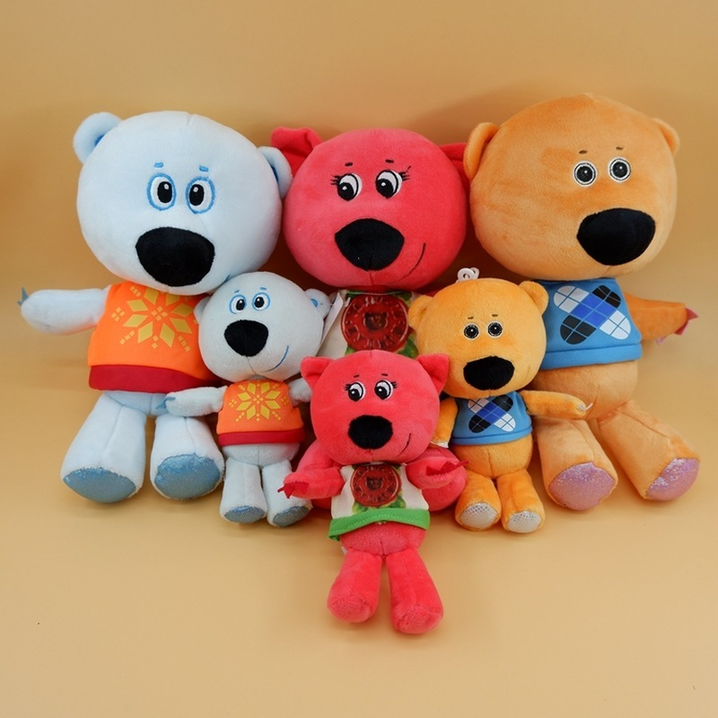 3pcs/set High Quality Toy Cartoon Teddy Bear Plush Toys MiMi Bear Stuffed Plush Animals Bear Doll Birthday Gift For Children