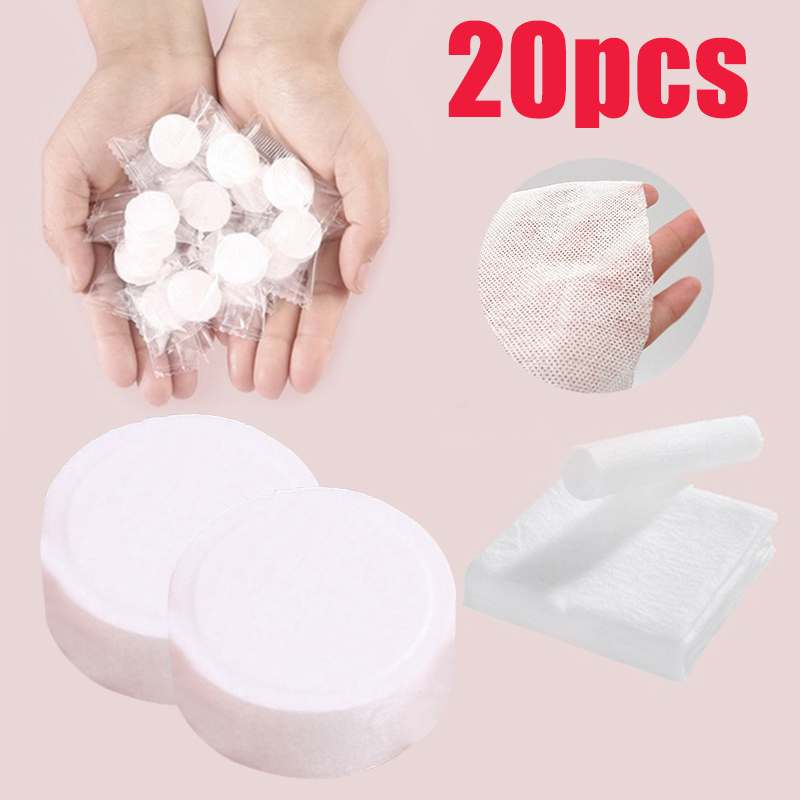 20pcs/set Outdoor Disposable Magic Compressed Travel Creative Towel Portable Travel Cotton Compressed Towel Mini Face Care Tools