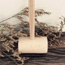 Буковая древесина Краб молоток с ручкой Простой ручной молоток для мяса морепродуктов портативный кухонный инструмент