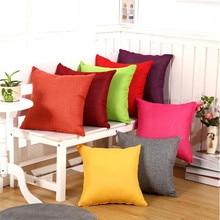45x45cm Home Fashion Linen Sofa Cushion Cover Fabric Pillow Case Solid Color Cushion Decorative 45x45cm home fashion linen sofa cushion cover fabric pillow case solid color cushion decorative