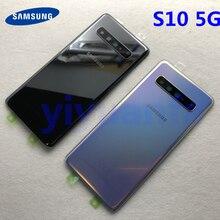 S10 5G Original Batterie Zurück Abdeckung Glas Tür Gehäuse Ersatz Für Samsung Galaxy S10 5G Version G977 G977F g977U + Aufkleber