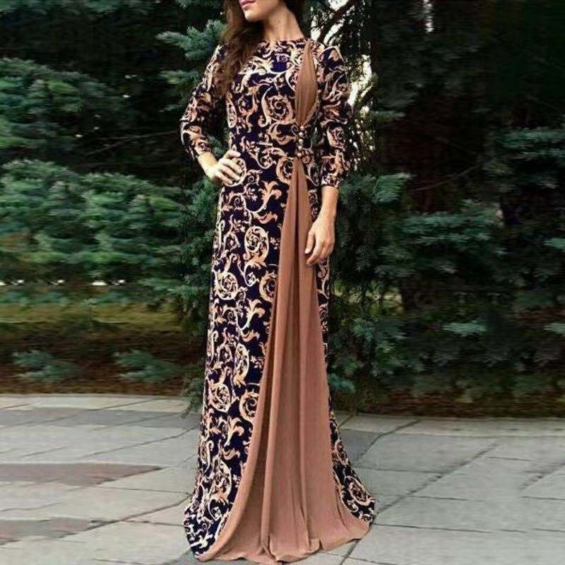 2020 Muslim dress kaftan Abaya Full Skrit Loose Kimono Long Robe dubai Gowns Ramadan Middle East Arab Islamic Clothing vestidos Women Women's Abaya Women's Clothings cb5feb1b7314637725a2e7: Brown|black|Blue|Red