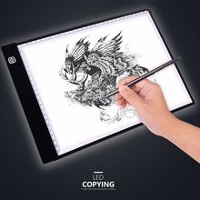 3 Level Dimmable Led Drawing Copy Pad Board A4/A5 Size Art Writing Table Plate Painting Educational Toys Creativity Artcraft