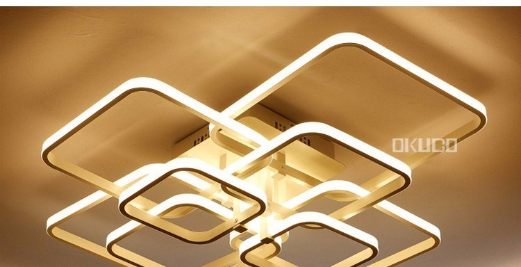 H1c43d7b7e7344e27bde378104d6483311 Touch Remote Dimming Modern plafon LED Ceiling Lamp Fixture Aluminum Dining Living Room Bedroom Lights Lustre Lamparas De Techo