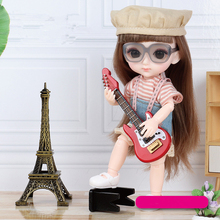 New Arrival 13 Moveable Jointed 16cm Dolls 1/12 Bjd Doll Dress Up with Clothes Shoes Glasses Dolls Toy for Girls Gift