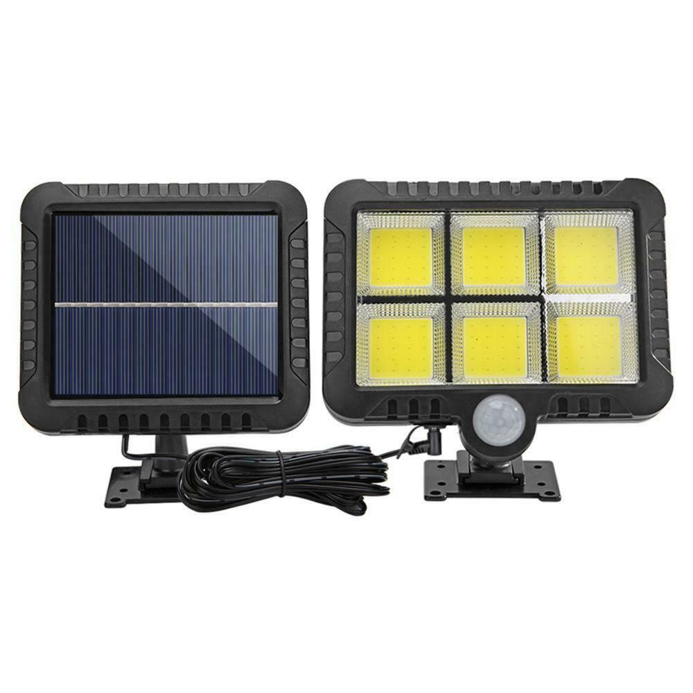 128 120LED COB Solar Light IP65 Waterproof PIR Motion Sensor Outdoor Spotlight Security Light Garden Street Path Solar Wall Lamp