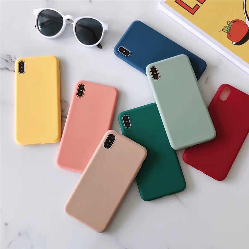 Pour étui Huawei P30 Lite P20 Pro Nova 5t 6 Y6 Y7 Y9 2019 Honor 8X 9X 20 S Pro 9 10i Mate 10 20 Lite étui Simple doux couleur bonbon