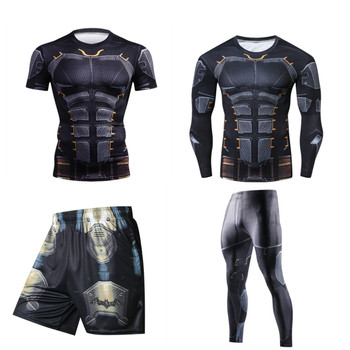 цена на MMA Bjj Boxing Sports Men's Rashguard Jiu Jitsu Compression T Shirt Running GYM Fitness Jogging Training Muay Thai Boxing Jersey