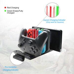 Image 2 - 닌텐도 스위치 조이 콘 컨트롤러 용 6 in1 충전 도크 닌텐도 스위치 프로 게임 패드 충전 스탠드 NS 용 LED 충전기