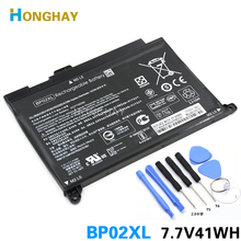 HONGHAY 41wh 5150mAhแบตเตอรี่แล็ปท็อปBP02XLสำหรับHP Pavilion PC 15 15 AU 849909 850 849569 421 HSTNN LB7H BP02041XL HSTNN UB7B