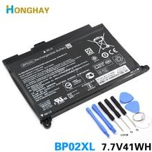 HONGHAY 41wh 5150mAh batería del ordenador portátil BP02XL para HP Pavilion PC 15 15 AU 849909 850, 849569 421 HSTNN LB7H BP02041XL HSTNN UB7B
