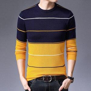 Image 4 - AIRGRACIAS 2019 新セーターの男性のファッションブランドプルオーバーストライプスリムフィット Knitred ウール秋カジュアル男性服プル hombre
