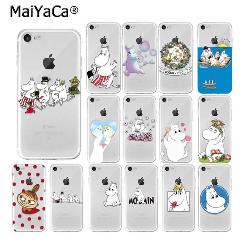 Babaite Lovely Hippo Moomin Tpu Transparent Phone Case Cover