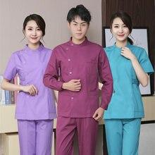 Костюм для медсестер с длинными рукавами и разрезом костюм из