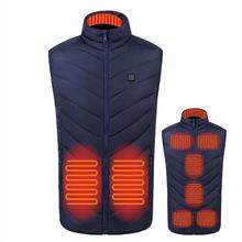 9 Areas USB Heating Vest Men Women Electric Heated Jacket Thermal Jacket heating vest jacket men tactical vest veste cheap CN(Origin) Fits true to size take your normal size POWER DRY Polyester veste chauffante verwarmde jas blouson chauffant