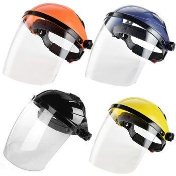 Full Face Shield Visor Adjustable Transparent Hat Anti Scratch Splash Eye Protective Cover Empty Top Cap блеск для губ top face top face to059lwexeg3