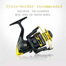13 + 1BB Gear Ratio Up to 5.2:1 Spinning Fishing Reel with Exchangeable Handle Automatic Folding