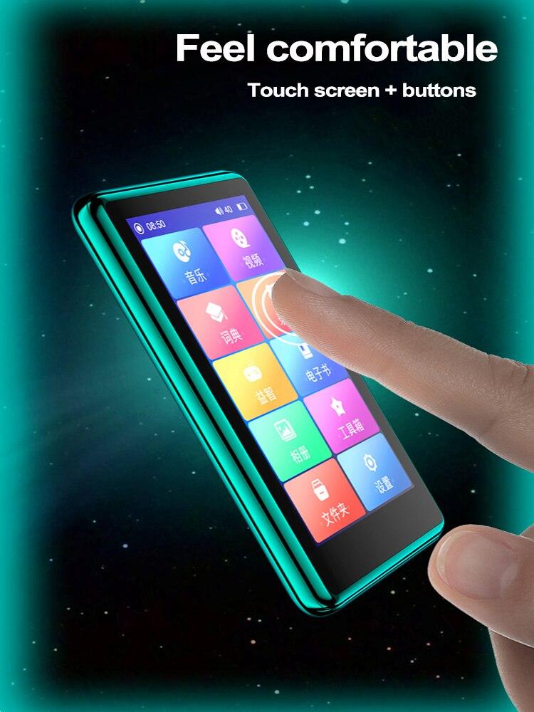 4.0 Inch Bluetooth MP4 Speler Touch Full Screen Ingebouwde Luidspreker Muziekspeler Met Fm E-book Game Video Opnemen media Player 6
