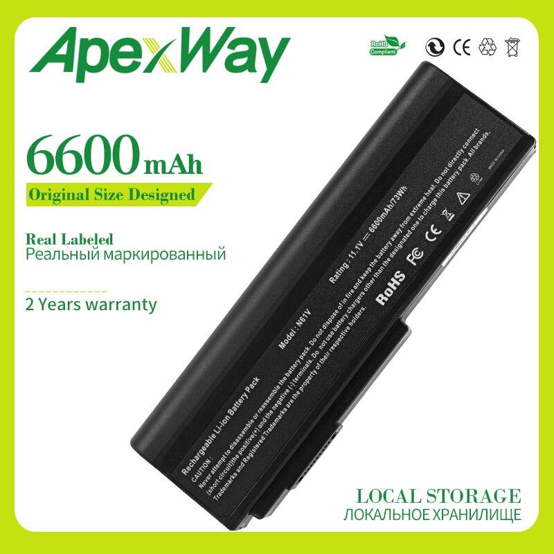 Apexway 6600 мАч аккумулятор для ноутбука ASUS A32 M50 G50 G51 N43 N53 N61 X55 X57 X64 A32 N61 A32 X64 A33 M50 L062066 L072051 L0790C6