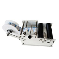New Arrival Labeling Manual Labeling Machine For Plastic Round Bottles|Vacuum Food Sealers|   -