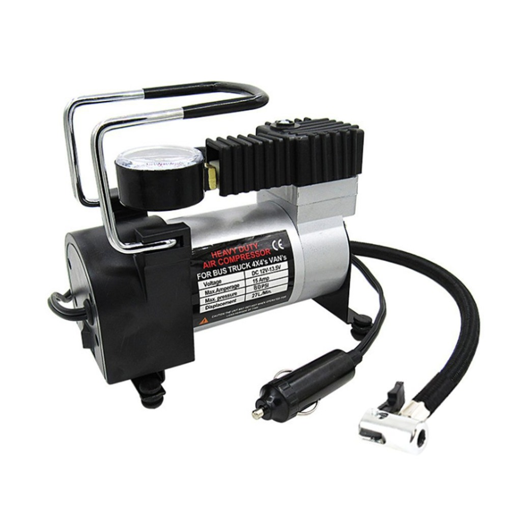 2018 Portable 100PSI Super Flow DC 12V  Metal Air Compressor Tyre Inflator Car Air Pump Vehicle Pump Electric Pressure Gauge