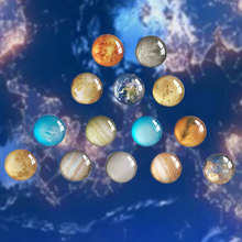 14Pcs Universe Kantoor Whiteboard Art Craft Zonnestelsel Thuis Decor Planetaire Koelkast Magneten Sticker Cabochon Gift Koelkast(China)