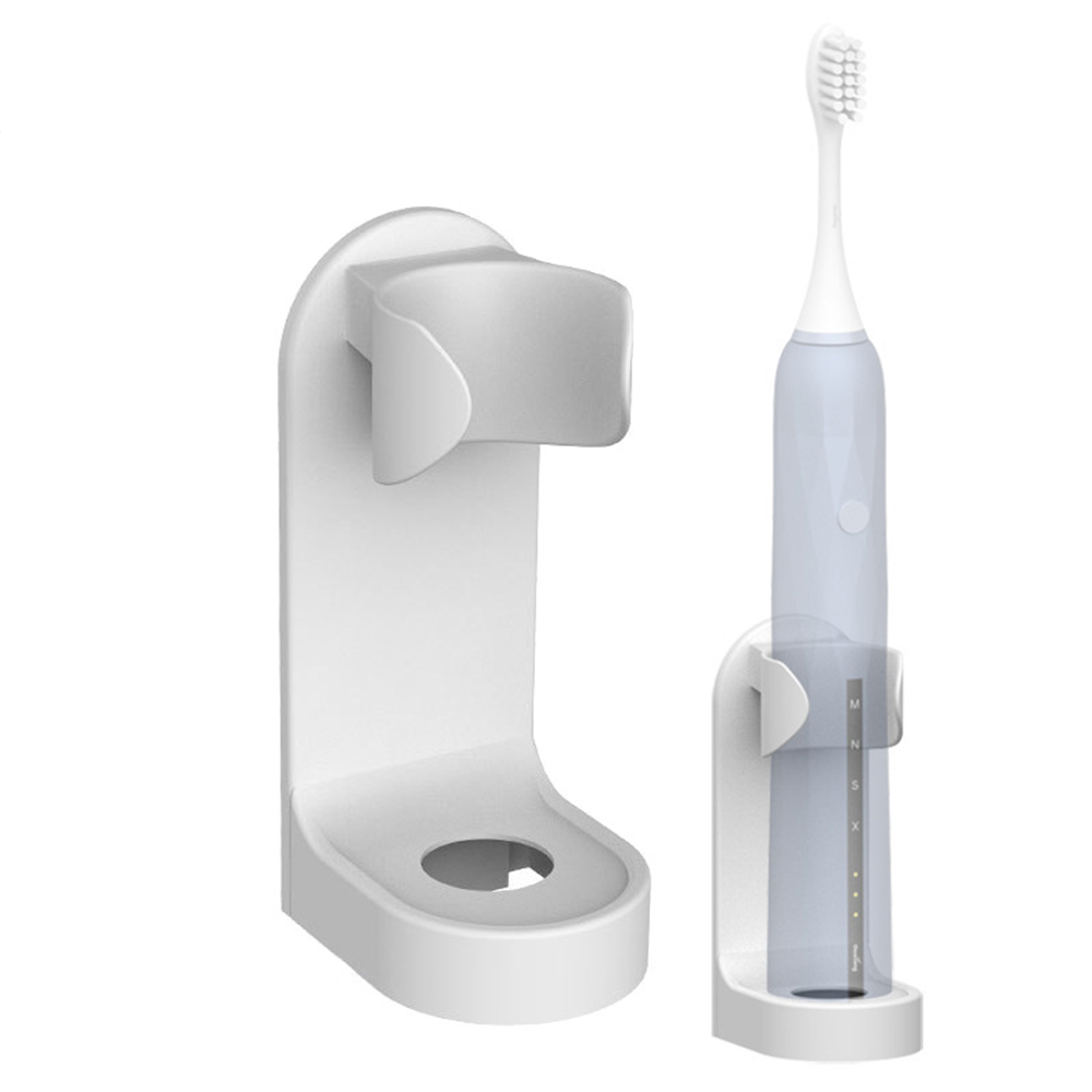 New Creative Traceless Stand Rack Bathroom Toothbrush Organizer Wall-Mounted Electric Toothbrush Holder Space Saving image