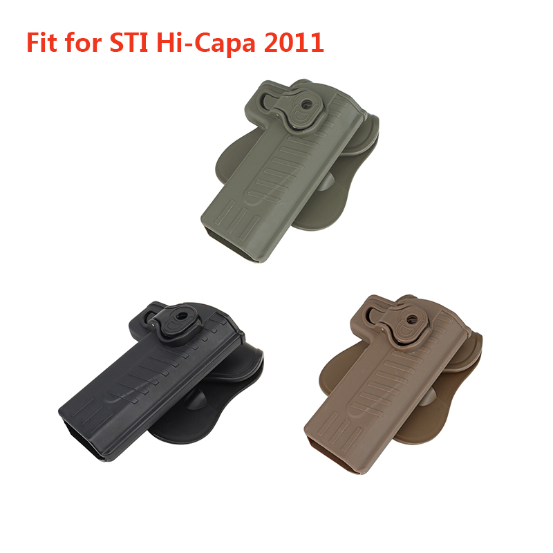 Coldre tático ajustável para sti hi-capa 2011 series blaster/tokyo marui/nós/kwa/kjw/novritsch/src baba yaga-mão direita