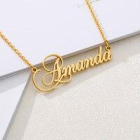 Очаровательное ожерелье с именной табличкой, персонализированное женское ювелирное изделие на заказ, подвески под любое имя, подарки для н...