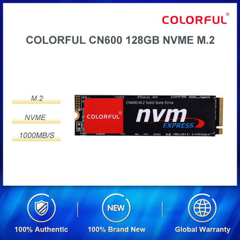 Colorful 128GB SSD Solid State Drive M.2 Interface (NVMe Protocol) CN600 Series For Laptop/Desktop Computer High-Speed Hard Disk