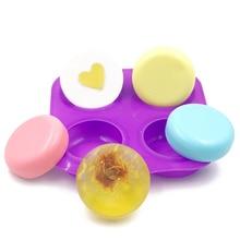 Четыре круглых круга силиконовые формы для торта термостойкие инструменты для украшения торта шоколадная резинка паста маффины с помадкой формы для выпечки мыла