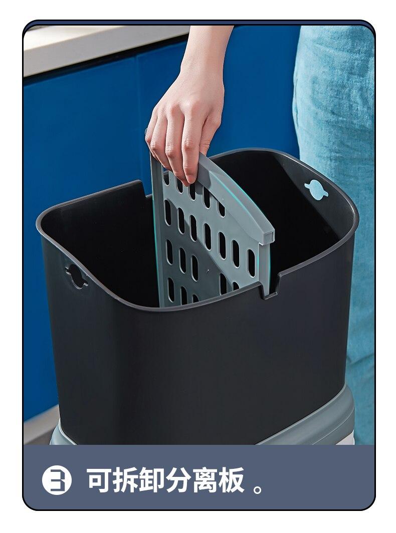 Cubos de basura cocina reciclar lata de