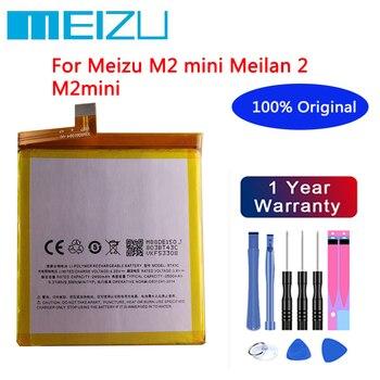 Meizu High Quality 100% Original Battery 2500mAh BT43C For Meizu M2 mini Meilan 2 M2mini Mobile Phone Batteries+Free tools meizu high quality battery 100