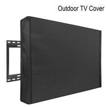 Уличный чехол для телевизора, Пылезащитный Водонепроницаемый чехол для телевизора, высокое качество, черный чехол для телевизора, от 22 до 70 ...