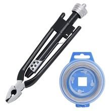 6 inç güvenlik tel büküm Twister yan kesme Lockwire pense 25 Feet ile paslanmaz çelik tel