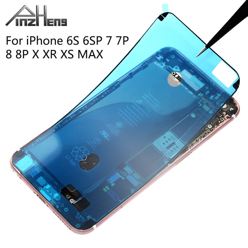 PINGZHENG 1Pcs Waterproof Sticker For iPhone 7 6s 8 Plus X XS MAX XR Sticker LCD Screen Tape Adhesive Glue Tape 3M Repair Set(China)