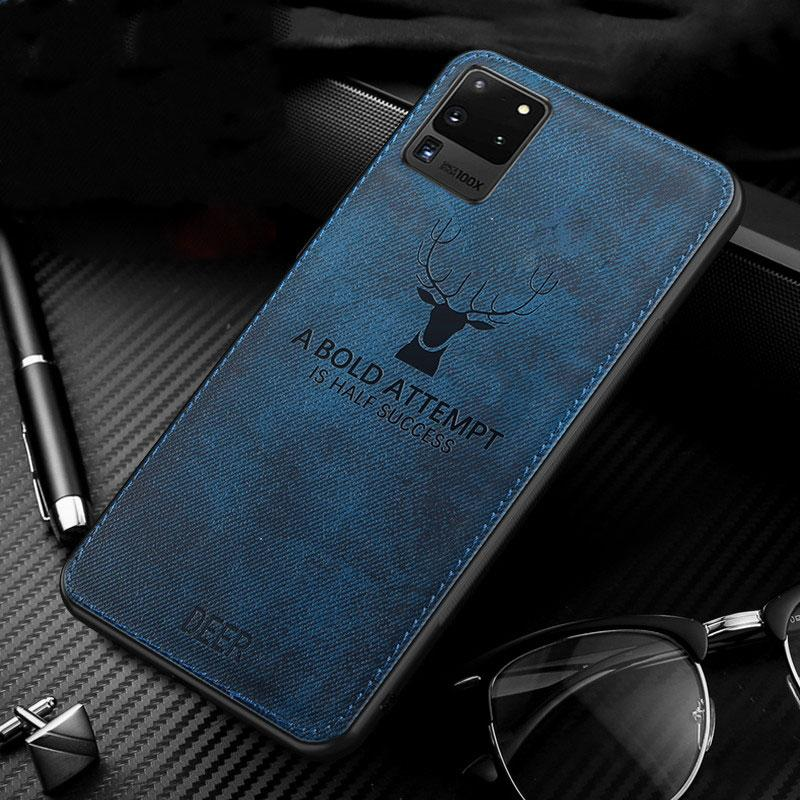 Deer Cloth Case For Samsung Galaxy S8 S9 S10 S20 Plus Ultra S10e Note 10 Lite 9 A50 A50S A51 A70 A71 Drop-Proof Soft TPU Cover