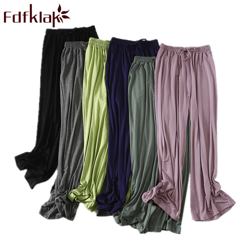 Fdfklak Модальные штаны для сна для женщин, пижамные штаны, весенне осенняя одежда для отдыха, пижамные брюки, одежда для сна, 6 цветов