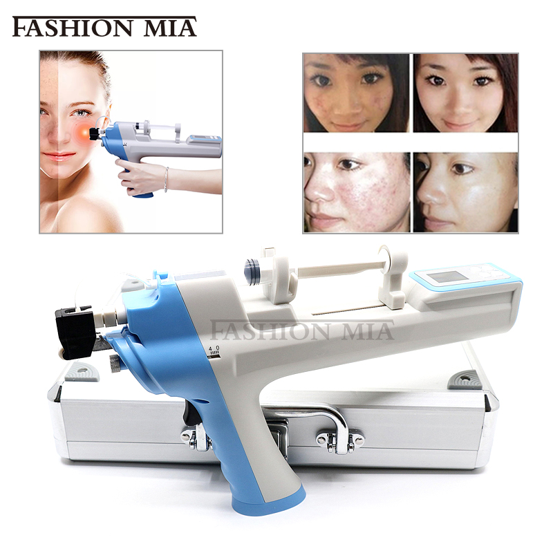Noninvasive Vanadium Titanium Radio Frequency Mesotherapy Gun 3 Tips Meso Microcrystal Pen For Facial Lifting Beauty Skin Tools
