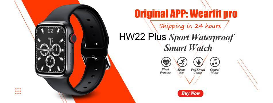H1c463823220c45ec8ba2a716d43f03beD 2021 Original IWO W26 W46 Smart Watch Men/Women Heart Rate/Blood Pressure Monitor Clock Smartwatch For Android IOS PK HW22 HW16