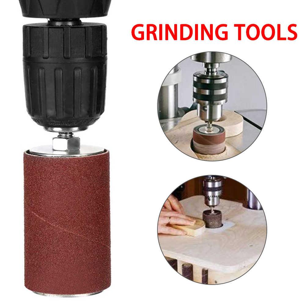 Berrywho di levigatura Drums Maniche Sand Circle Kit Elettrico Grinder Ricambio Componenti Set 458PCS Rosso Scuro